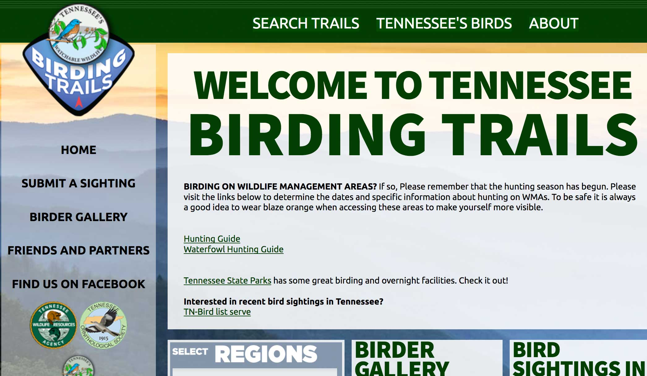 Tennessee Birding Trails